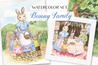 Happy Easter - Watercolor Set