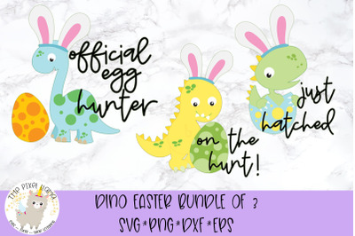 Dinosaur Easter Bundle SVG Cut Files