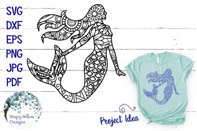 Mermaid Zentangle SVG