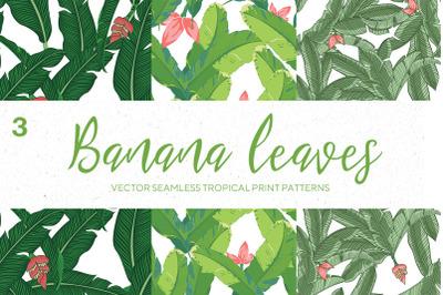 Seamles Banana Leaves patterns Bundle