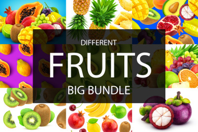 Different fruits collection