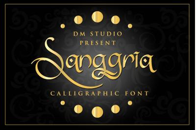 Sanggria - Calligraphi Font + EXTRA
