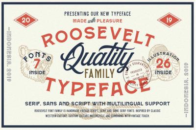 Roosevelt Font Family (Font Bundle)