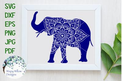Elephant Mandala SVG