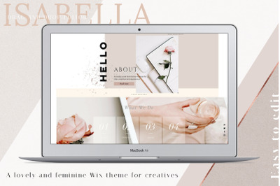 WIX Website template Isabella