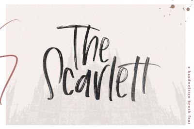 The Scarlett - Chic Handwritten Brush Font
