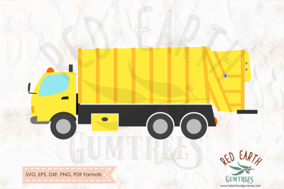 Garbage truck, construction theme truck SVG, PNG, EPS, DXF, PDF