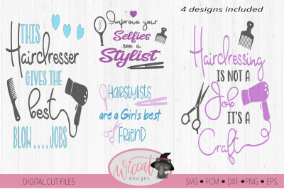 Hairstylist quote bundle, Hairdresser pun, Stylist word art svg, tumbl