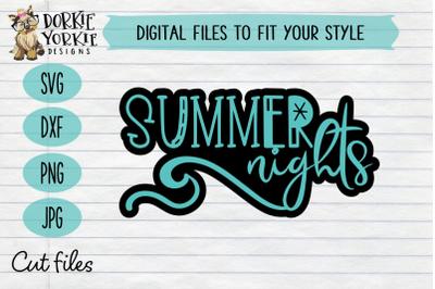 Summer Night -  SVG Cut File