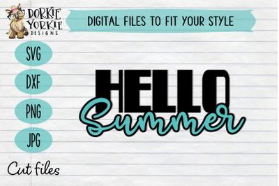 Hello Summer - Beach, pool, fun - SVG Cut File