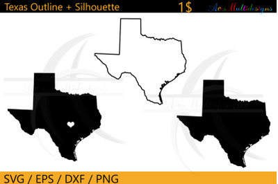 Texas outline map /texas states outline map silhouette