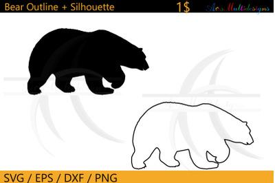 Bear outline svg / bear silhouette outline