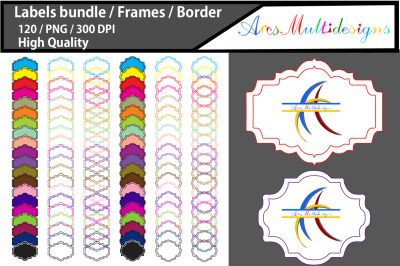 Label frame clipart / scrapbooking labels