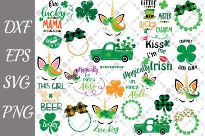 St Patricks Bundle Svg, IRISH MONOGRAM SVG