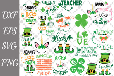 St. Patrick's Day Svg Bundle, LUCKY CHARM SVG,Irish Quotes Svg