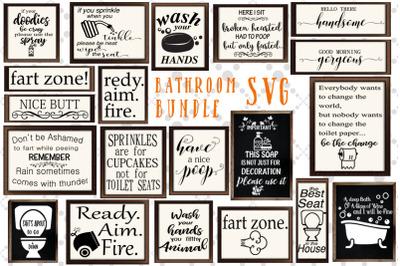 Bathroom Sign Svg Bundle, FUNNY BATHROOM SVG, Svg Design Bundle