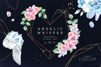 Angelic Whisper. Watercolor Set