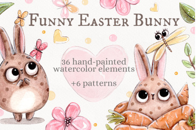 Funny Easter Bunny set +bonus: 6 patterns