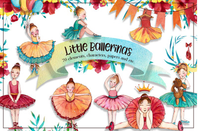 Little Ballerinas Watercolor Set