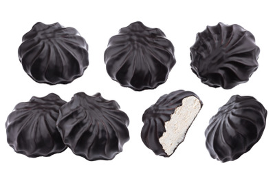 Chocolate covered marshmallows, russian zephyr in chocolate