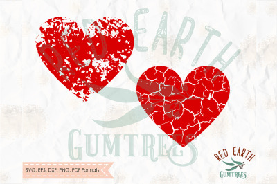 Grunge heart, distressed heart, cracked heart SVG, PNG, EPS, DXF, PDF