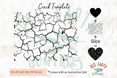 Create your own cracked object in Cricut with instructions, pattern