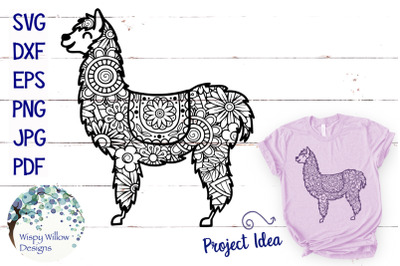 Llama Zentangle SVG