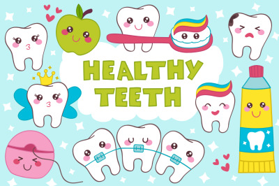 healthy teeth kawaii