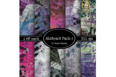 10 Pack of Abstract Texture Backgrounds Pack 6