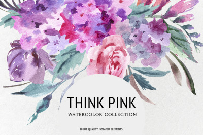 Think Pink, Watercolor Collection