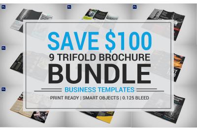 9 Trifold Brochure Bundle 1