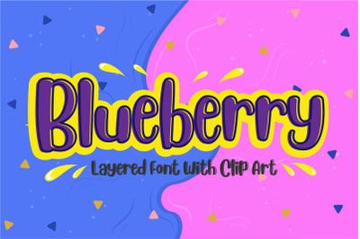 Blueberry - Layered Font