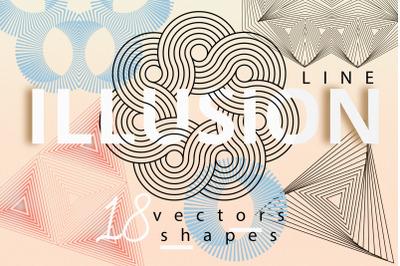 Illusion linear geometric shapes
