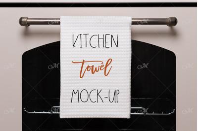 Kitchen Towel Mock-up. PSD+JPEG