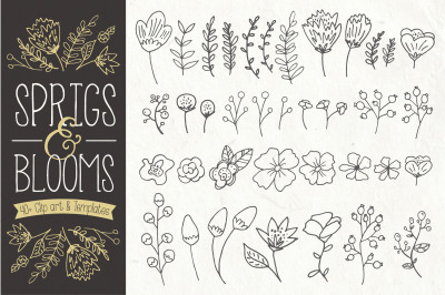 Sprigs & Blooms Clip Art & Vectors