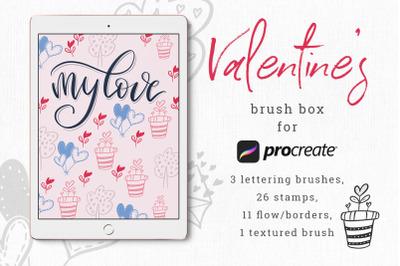Valentine's brush box for Procreate