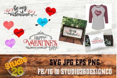 Happy Valentine's Day Bundle - SVG PNG EPS
