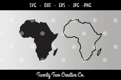 Africa Filled and Outline