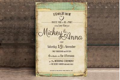 Vintage Journey Wedding Invitation