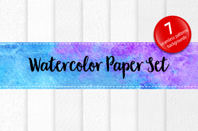 Set of watercolor paper white texture