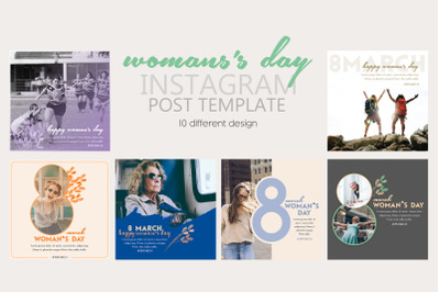 Instagram Post Templates for Woman's Day