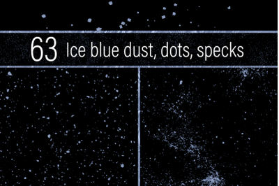 Ice Blue Dust, Dots and Specks