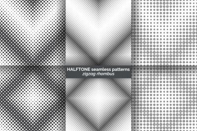 Halftone seamless patterns