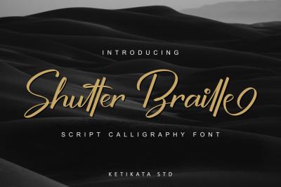 Shutter Braille Script