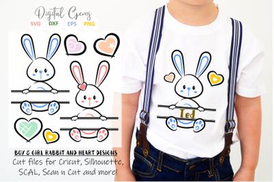 Split Easter Bunny designs