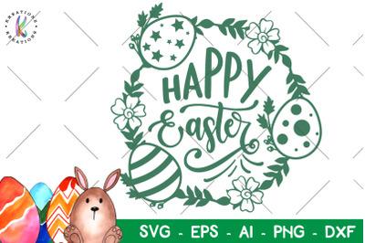 Happy Easter svg Easter wreath svg