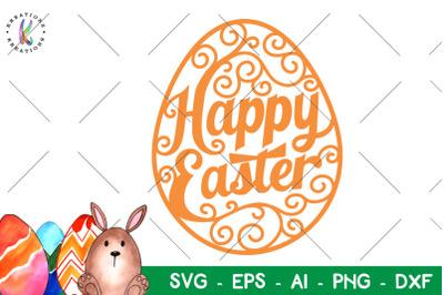Happy Easter svg Flourish Egg