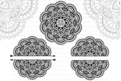 Mandala Monogram SVG, Arrow Mandala SVG Split Mandala SVG, Files.