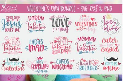 Valentine's Day Bundle - SVG, DXF & PNG - 15 Designs