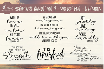 Scripture Bundle Vol. 2 - 6 Designs - SVG, DXF & PNG